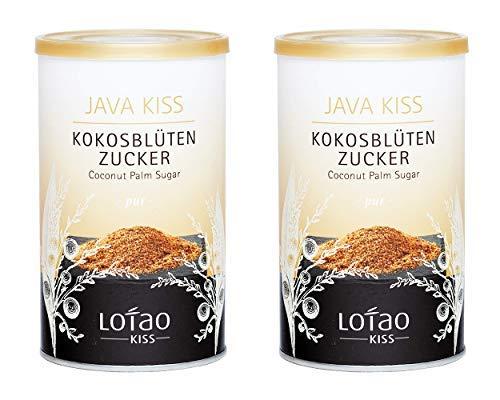 Lotao Kiss Java Kokosblütenzucker, 2er Pack (2 x 250 g) - nachhaltig,...