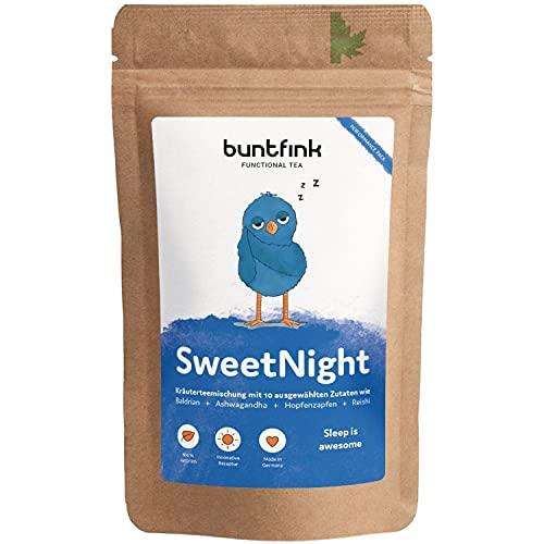 "buntfink®""SweetNight"" Abend-Tee mit Baldrian + Hopfen + Reishi +..."