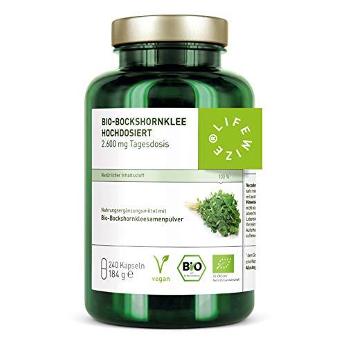 LifeWize® 240 Bio Bockshornklee Kapseln Aktiviert - 2.600 mg...