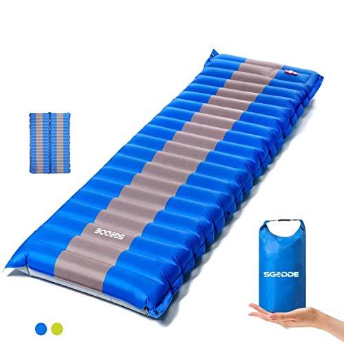 SGODDE Isomatte Camping Selbstaufblasbare, Handpresse Aufblasbare,leichte...