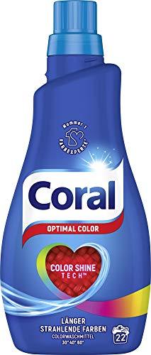 Coral Waschmittel flüssig für bunte Wäsche – 22 Waschladungen...