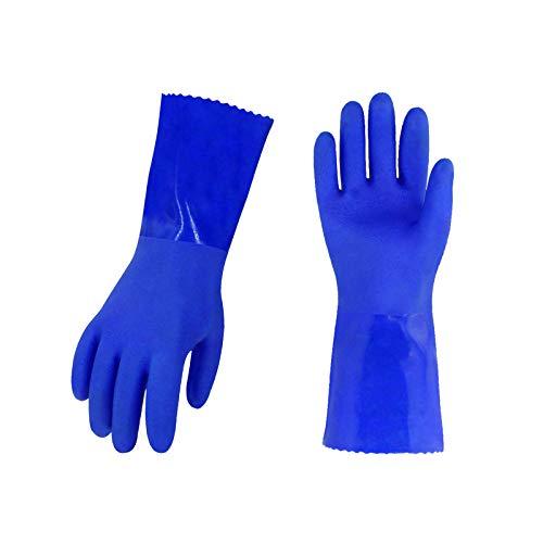 Vgo 5 Paare PVC-Handschuhe vollbeschichtet gegen Fette und Mineralöle,...