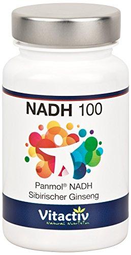 NADH 100 + GINSENG, mit patentiertem, biologisch aktivem PANMOL®-NADH und...