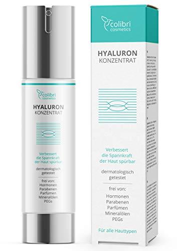Hyaluronsäure Serum hochdosiert - Natürliche Hyaluron Anti-Aging Creme...