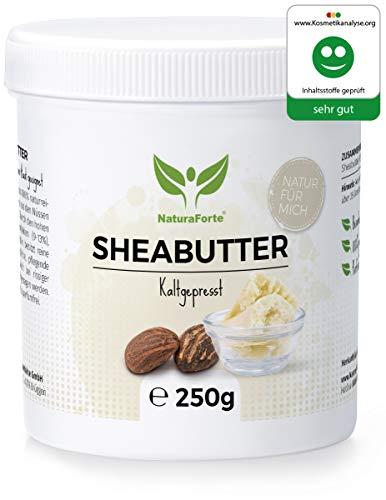 NaturaForte Sheabutter 250g – Naturreine Körperbutter, kaltgepresst,...