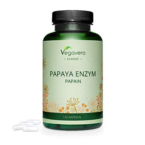 PAPAYA Enzym Vegavero ® | HOCHDOSIERT: 1500 mg Papain pro Tagesdosis | 120...