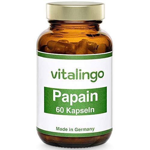 Papain Enzym Kapseln (mind. 35 Mio. USP units/g) VEGAN und hochdosiert - 60...
