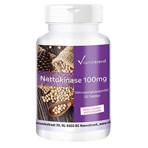 Nattokinase 100mg - 2000 FU pro Tablette - 120 Tabletten - Vegan -...
