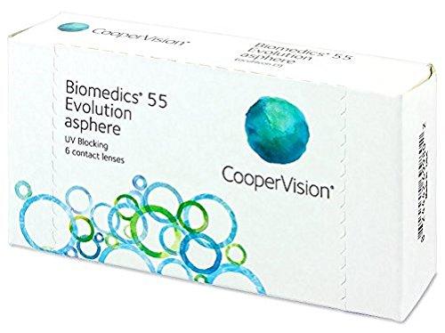 Biomedics 55 Evolution Monatslinsen weich, 6 Stück / BC 8.6 mm / DIA 14.2...