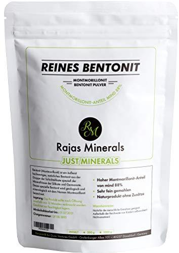 reines Bentonit-Pulver 1 Kg extra fein (Montmorillonit-Anteil bis 95% )...