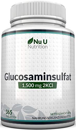 Glucosamin Sulfat 1.500mg 2KCI, 365 Tabletten Glucosamin (Versorgung für...