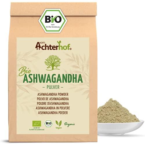 Ashwagandha Pulver BIO (500g) | 100% ECHTE Ashwagandhawurzel gemahlen aus...