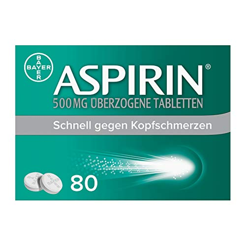 Aspirin 500mg überzogene Tabletten, besonders schnell und effektiv gegen...