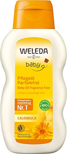 WELEDA Baby Calendula Pflegeöl Parfümfrei, Naturkosmetik Babyöl für die...