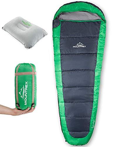 MOUNTREX® Schlafsack – Ultraleicht & Kompakt (850g) - Outdoor...