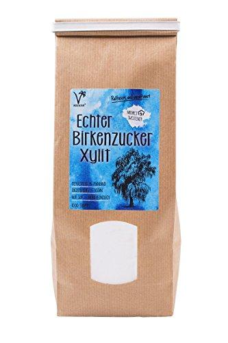 Kräuterladen Echter Birkenzucker (Xylit), natürlicher Zuckerersatz ohne...