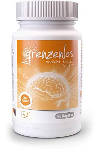 grenzenlos® Brain Booster¹ - koffeinfreie Konzentrations-Tabletten² mit...