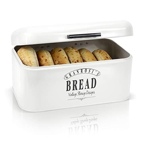 Granrosi Retro Brotkasten - Kompakte Brotbox hält Brot und Brötchen...