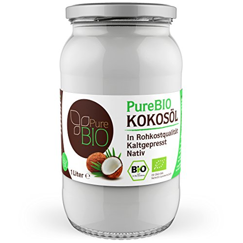 PureBIO Kokosöl 1000ml (1L) für HAARE, HAUT und zum KOCHEN - Kokosöl...