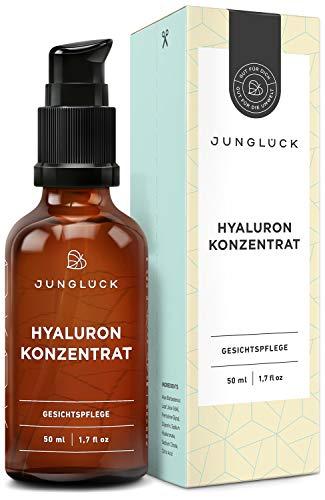 Junglück Hyaluron Serum I 50 ml hochdosiertes Hyaluronsäure Konzentrat I...