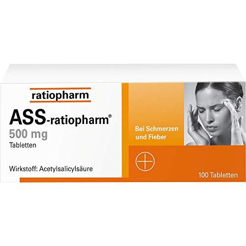 ASS-ratiopharm 500 mg Tabletten, 100 St. Tabletten