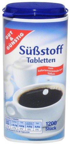 Gut und Günstig Süßstoff Tableten - 1 x 1200 Stück