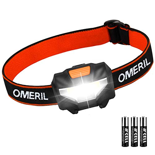OMERIL Stirnlampe Kopflampe Stirnlampe LED Superhell Wasserdicht...