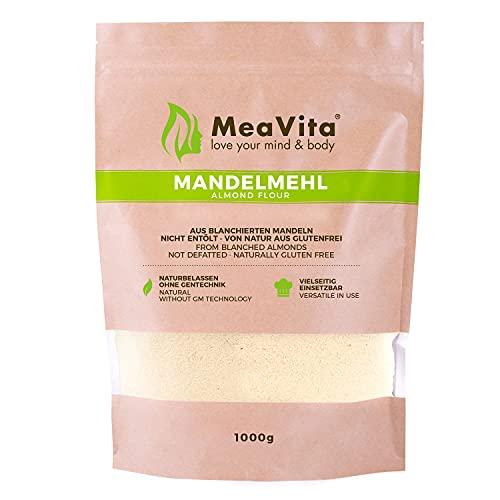 MeaVita Mandelmehl, naturbelassen, blanchiert, (1 x 1000g) gemahlene...