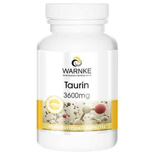 Taurin Kapseln - hochdosiert - 3600mg Taurin pro Tagesdosis - vegan - 120...