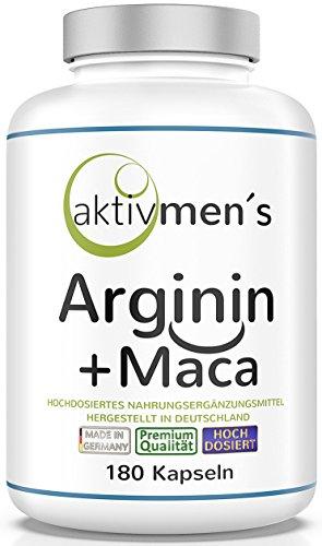 aktivmen´s Arginin + Maca hochdosiert - für stark aktive Männer, von...
