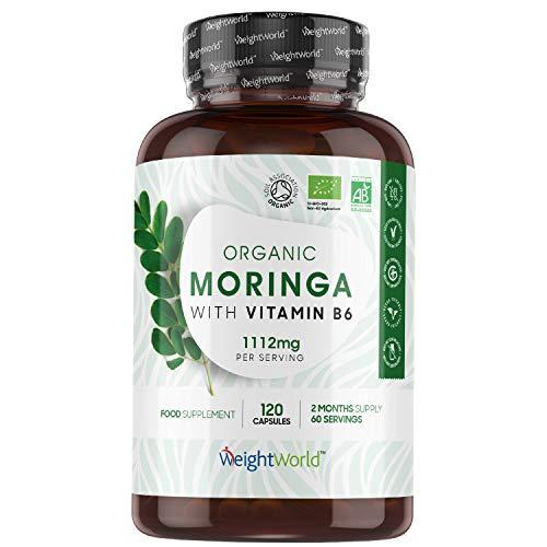 BIO Moringa Kapseln - 1100mg Moringa Oleifera - Superfood mit Proteinen,...