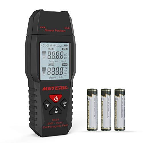 EMF Meter Meterk Strahlung Detektor digitales Strahlenmessgerät Handheld...