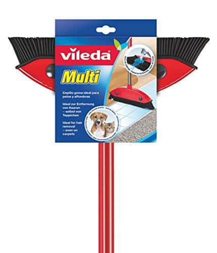 Vileda Multi Besen, mit Teleskopstiel, Kautschukborsten, gegen Tierhaare,...
