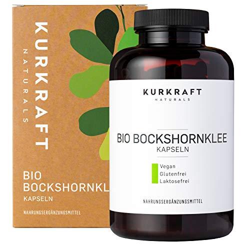 Kurkraft® Bockshornklee Kapseln Aktiviert (240 Stück) - Bio-Zertifiziert...