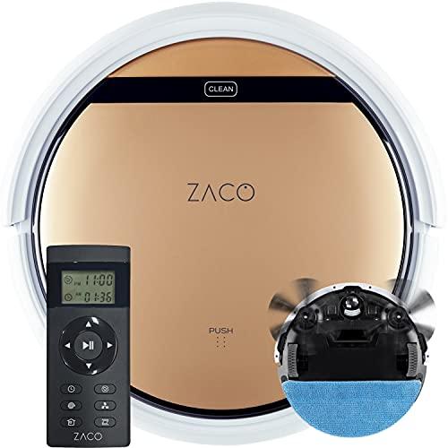 ZACO V5sPro Saugroboter mit Wischfunktion, automatischer Staubsauger...