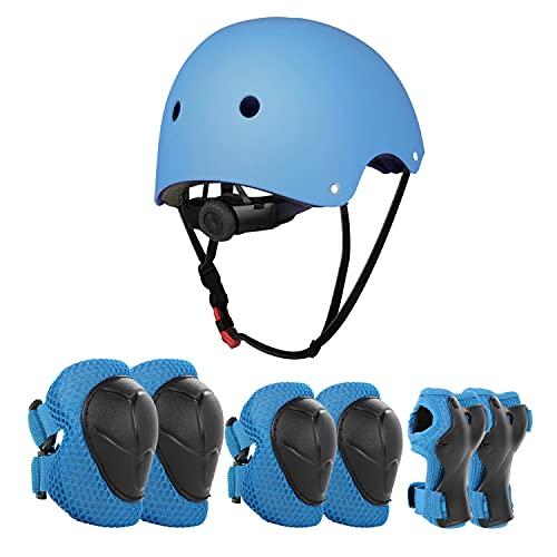 JIM'S STORE Schoner Set Knieschoner Inliner Kinder mit Verstellbaren Helm...