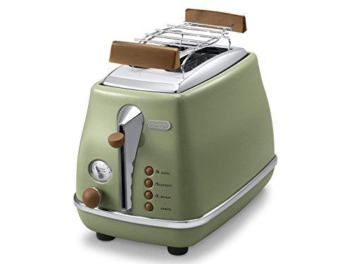 De'Longhi Toaster Icona Vintage CTOV2103.GR - 2-Schlitz-Toaster mit...