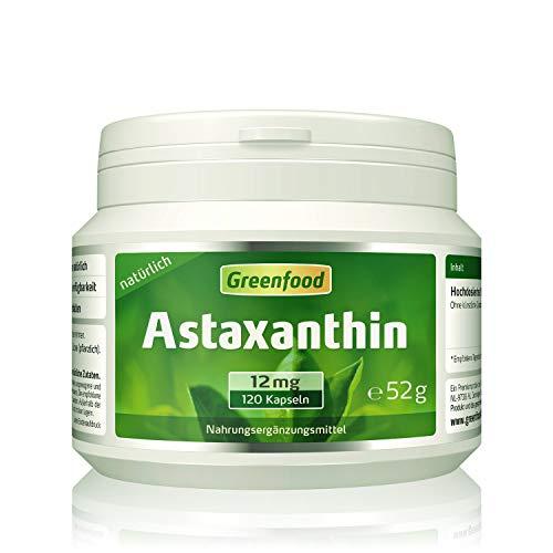 Greenfood Astaxanthin, 12 mg, hochdosiert, 120 Kapseln – natürlich, ohne...