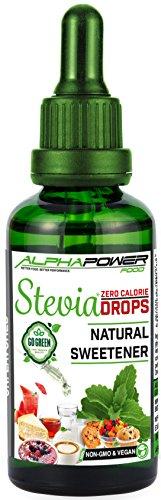 ALPHAPOWER FOOD® Original Stevia Zucker Drops, Vegan & GMO-frei,...