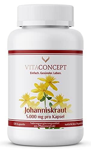 Johanniskraut I Der Vergleichssieger I 5000 mg pro Kapsel I inklusive...