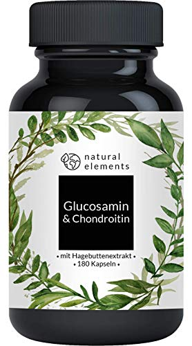 Glucosamin & Chondroitin hochdosiert - 180 Kapseln - Laborgeprüft,...