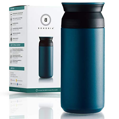 BOHORIA® Premium Edelstahl Kaffee-to-Go-Becher – Isolierbecher –...