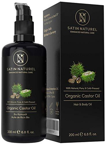 BIO Rizinusöl Vegan + Kaltgepresst für Haut, Haare & Wimpernwachstum -...
