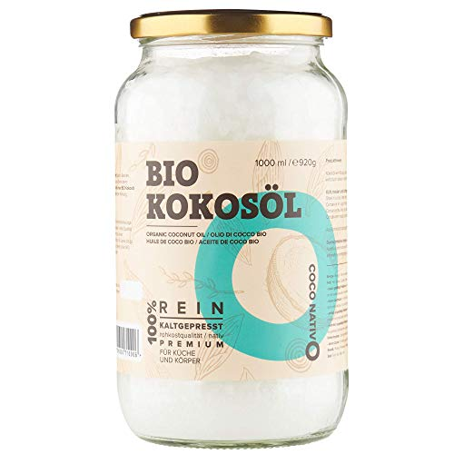 Bio Kokosöl CocoNativo - 1000mL (1L) - Bio Kokosfett, Kokosnussöl,...