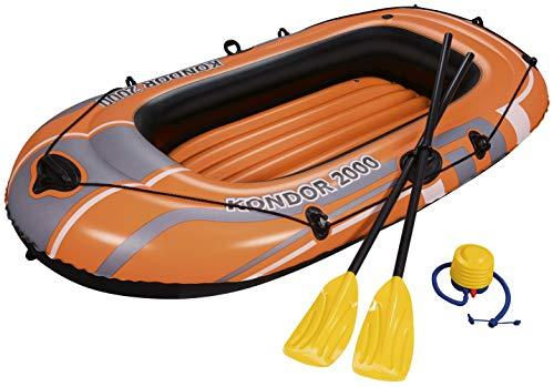 Bestway - Kondor 2000 - Schlauchboot-Set, für 1 Erwachsenen und 1 Kind,...