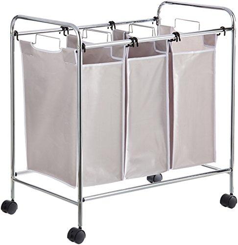 Amazon Basics - Wäschesortierer mit 3 Taschen