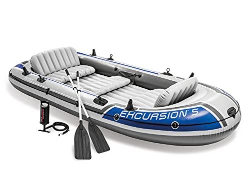 Intex Excursion 5 Set Schlauchboot - 366 x 168 x 43 cm - 4-teilig - Grau /...