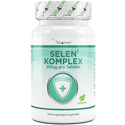 Selen 3-fach Komplex - 365 Tabletten mit je 200 µg - Premium:...
