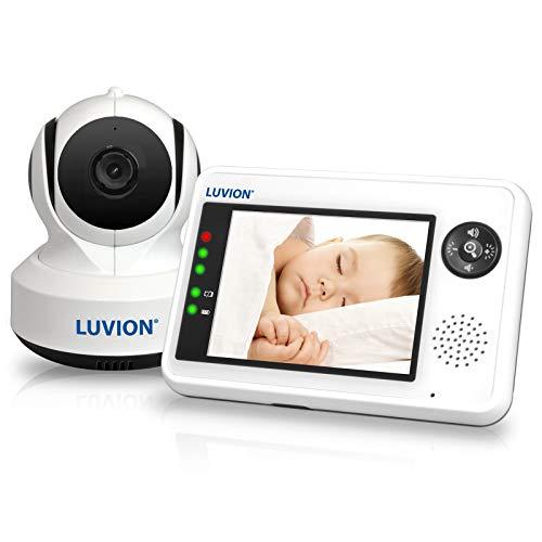 LUVION ESSENTIAL - Babyphone mit Kamera - 3.5 Zoll Farbdisplay - Weiß...