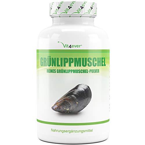 Grünlippmuschel - 365 Kapseln mit je 600 mg - Premium: Mit...
